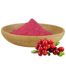 Suplemento alimentar a granel Extrato de suco de fruta cranberry em pó