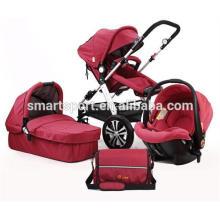 Carrinhos estilo europeu bebê carrinhos 3-em-1