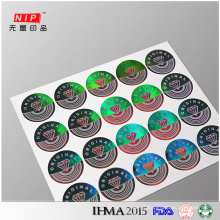 Original Make Transparent Hologram Labels for Home Appliance