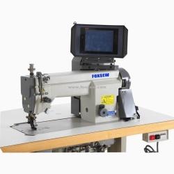 Geïntegreerde naaimachine voor geprogrammeerde mouwinstelling