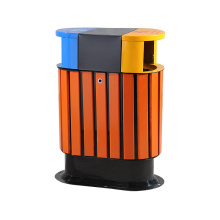 Hot Selling Stahl-Holz Outdoor Bins (B10330)
