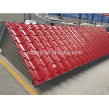 Telha de telhado ondulado Prepainted Steel Spangle Roofing Sheet
