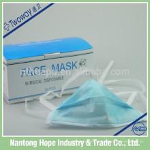 Máscara protectora não tecida da higiene 3-ply