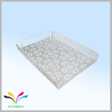 flower pattern metal office document tray