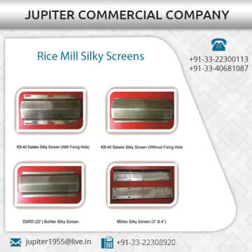 Genuine und beste Reis Mühle Silky Screen für Huller Maschine