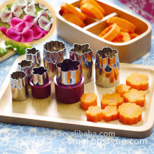 8 PCS Stainless Steel Flower Shape Cake Vegetable Fruit Cookie Cutter Mold Tool Kitchen Accessories
