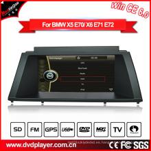 Windows Ce Car Radio GPS GPS de navegación para BMW X5 / X6 Hualingan