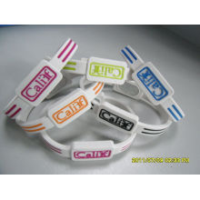 Sports Energy Armor Bracelet, Silicone Rubber Wristbands With Customized Logo / Size
