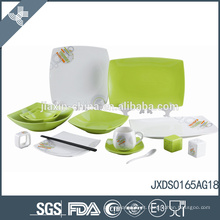 Novo Design de Luxo 65PCS Porcelana Square Dinner Set