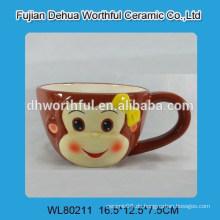 Lovely Affe Keramik Tasse