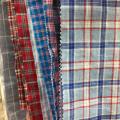 Camisa de vestir elegante cuadros a cuadros cómodos natrual 100% tejido de lino