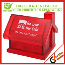 Customized Cheap Plastic House Coin Bank