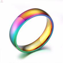 Barato por atacado gay colorido casamento noivado anéis de aço inoxidável para homens