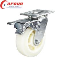 100mm Heavy Duty Swivel Nylon Wheel Caster with Total Brake