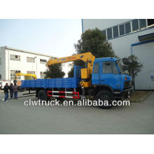 Dongfeng 12 tons cargo truck mounted crane