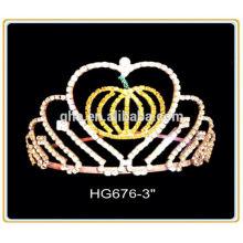 Cristal casamento coroa elsa coroa luvas plástico aniversário festa coroa feriado tiara coroa