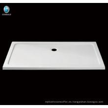 Rectangular acrílico Plato de ducha, baño ducha base