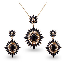 Luxury Black AAA CZ Stone Environmental Copper Jewelry Sets