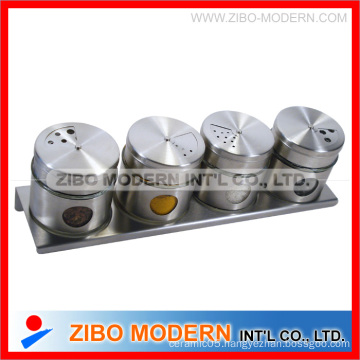 4PC Stainless Steel Jar With Stand (GA1120)