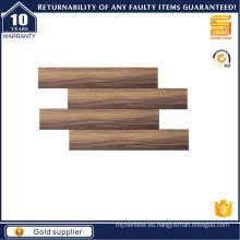 Azulejo de madera marrón para el suelo y la pared