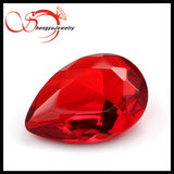 Pear shape 10 *8mm orange red glass gemstone drope shape stone
