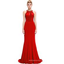 Starzz 2016 nuevo sin mangas con espalda elegante vestido largo rojo formal ST000089-2