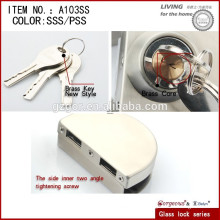 double glass door lock for shower room/bathroom