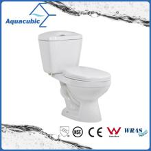 Siphonic Two Piece Dual Flush White Toilet (ACT8221)