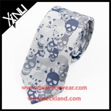 Trockenreinigung Nur Polyester Woven Großhandel Männer Günstige Schädel Krawatten