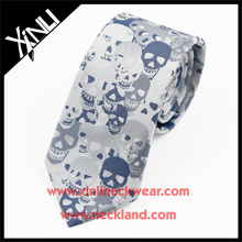 Dry-clean Only Polyester Woven Wholesale Men Cheap Skulls Ties