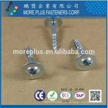 Hecho en Taiwán C1022 # 2 PHIL Arandela redonda de la cabeza Tipo de rosca gruesa 17 Cincado plateado CR6 + Junta de partículas de tornillo