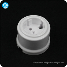 white porcelain parts alumina ceramic wall socket lamp parts 95