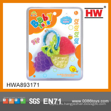 Divertido mini juguete de la dentición del juguete de la fruta del bebé del silicón
