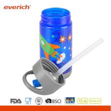 Everich 350ml Tritan BPA Bouteille d'eau gratuite avec paille