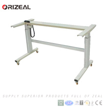 2018 new technology electric dual motors adjustable height office sit stand desk with lifting column