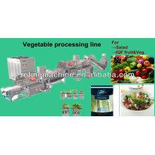 Línea automática de procesamiento de verduras / ensalada / IQF / línea de procesamiento de frutas / fresa / mango /