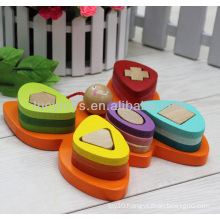 wooden butterfly shape sorter children educational toys