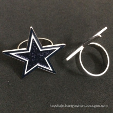 Five Point Star Shaped Custom Pin Badges for Protection
