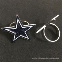 Estrela de cinco pontos em forma de crachás personalizados para proteção