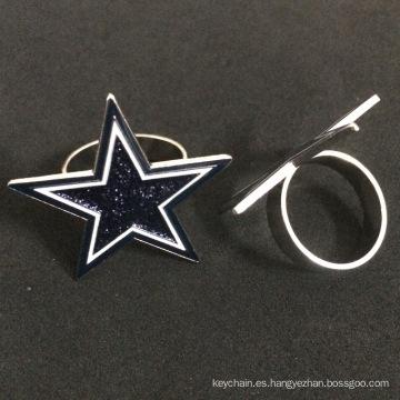 Insignias de pin personalizadas en forma de estrella de cinco puntas para protección