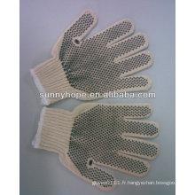 Gants en coton pointillé en PVC
