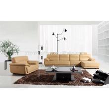 Sofá de cuero de la sección de la cubierta para la sala KW336