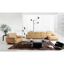 Sofá de seção de capa de couro para sala de estar KW336