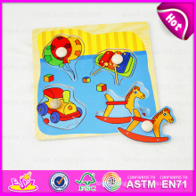 2015 Educational Colorful Wooden Puzzle Set Toy, Cute Wooden Jigsaw Puzzle Toy Wholesale, Wooden Toy Puzzle Game with Knob W14m074
