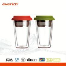 Nouvelle tasse à café à double paroi multicolore