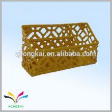 Chine fournisseur propre usine poudre jaune enduite fournitures de bureau porte-stylo