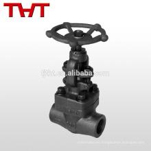 Válvula de globo de acero forjado tipo A105 soldada