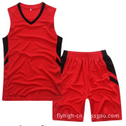 Hot Red Color Custom Logo Polyester Uniform Sports Suit