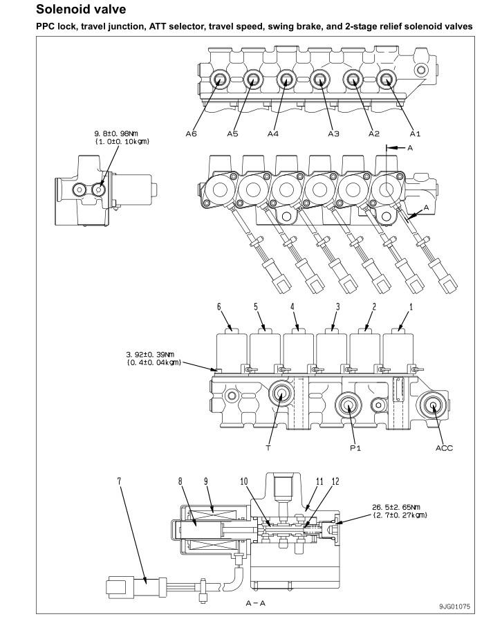 PC200-8 Solenoid Valve