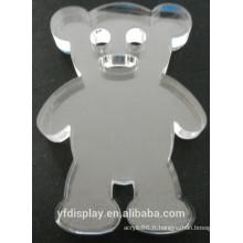Vente chaude haut cadeau acrylique clair, présent acrylique